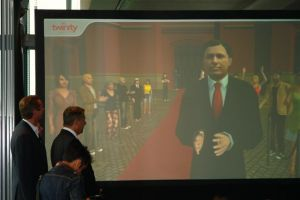 Mayor of Berlin, Klaus Wowereit, opens Virtual Berlin