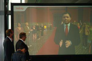 Mayor of Berlin, Klaus Wowereit, opens Virtual Berlin