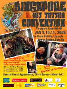 IS Magazine Advertisment for 1st singapore Tattoo Show 2009 - click poster to go to Tattoo Show website