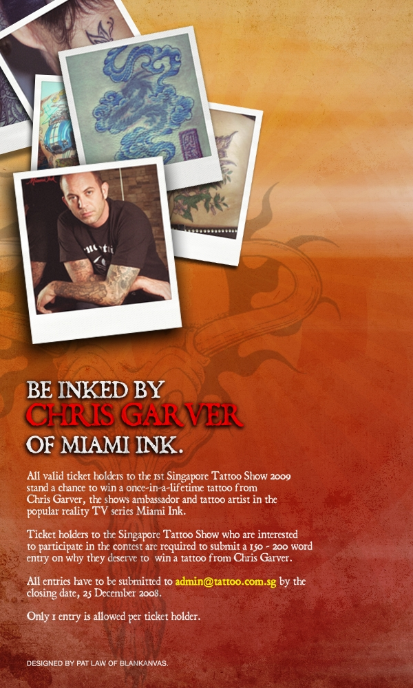 Chris Garver why he should ink YOU Tattoo Contest
